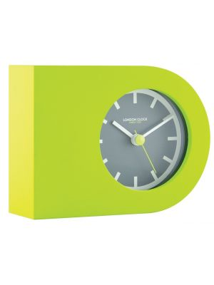 Lime green rubber mantel clock with grey inner rim | 06460