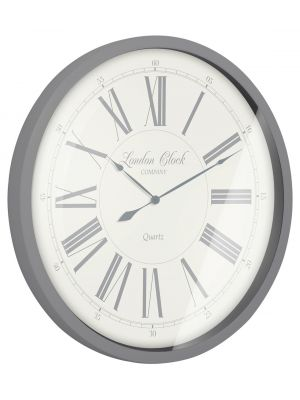 The heritage grey metal wall clock | 24288