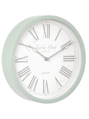 Soft grey metal case wall clock | 24295