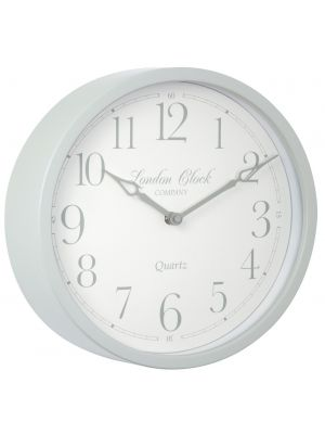 Sage green metal cased wall clock | 24296