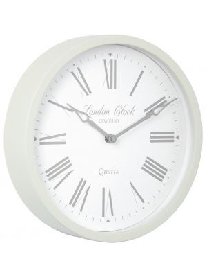 Cream metal cased wall clock with Roman dial | 24297