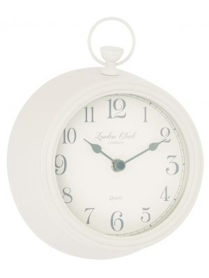 Cream metal fob wall clock | 06441