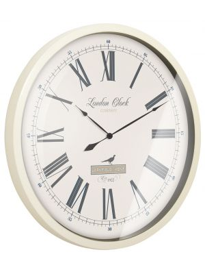 The farmhouse cream metal cased wall clock | 24298