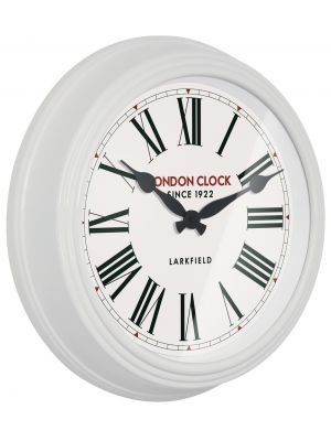 White gloss finish metal wall clock | 24312