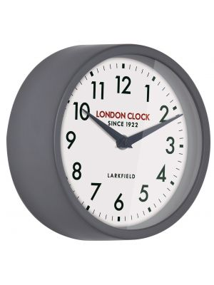 Cool grey metal gloss finish wall clock | 24316
