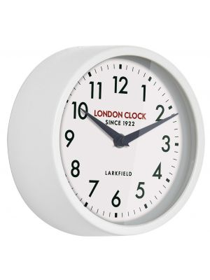White gloss finish metal wall clock | 24318