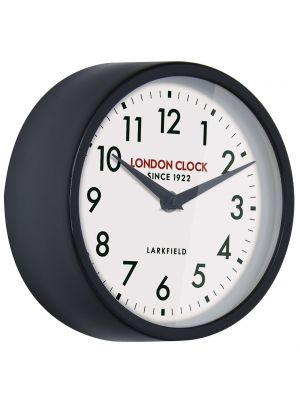 Black gloss finish metal wall clock | 24317