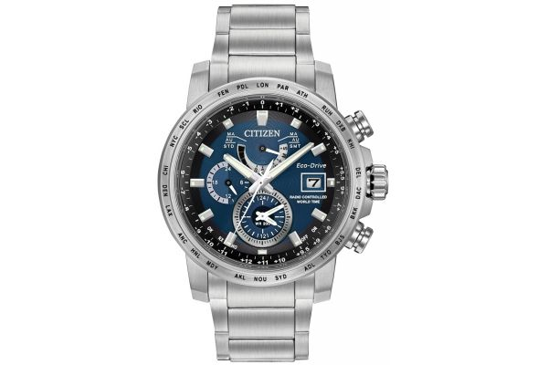 Mens Citizen World Time A-T Watch AT9070-51L