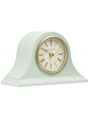 Matt Green mantel with gold highlights and Roman dial | 03136