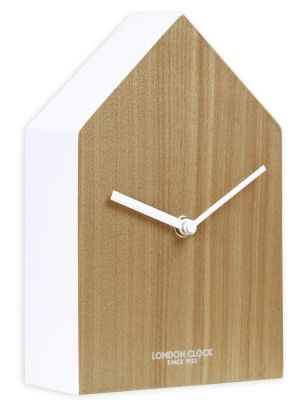 Minimal Hus house composite wood and white wall clock | 03144
