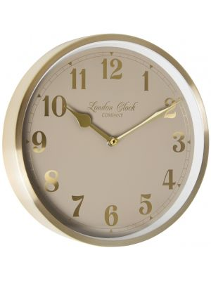 Champagne Gold cased wall clock with Arabic grey dial | 01109