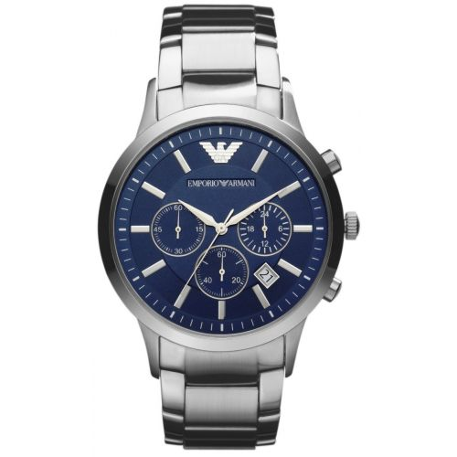 c1527cfb Emporio Armani Men's Classic blue steel sports chronograph watch with date