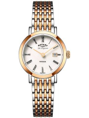 Womens Rotary Windsor Two Tone Rose LB90155/01 Watch