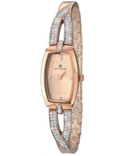 Womens Accurist Dress Rose gold crystal set 8033.00 Watch