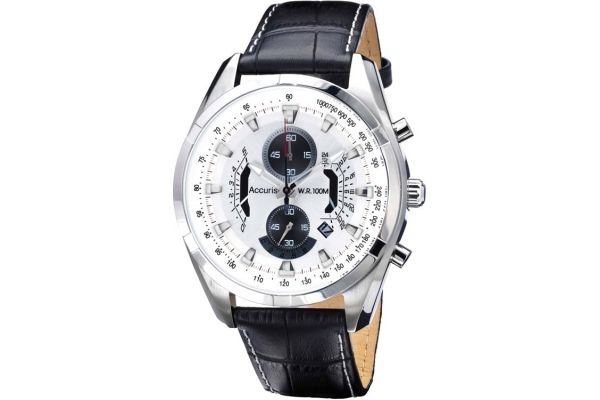 Mens Accurist Chronograph Watch MS785B