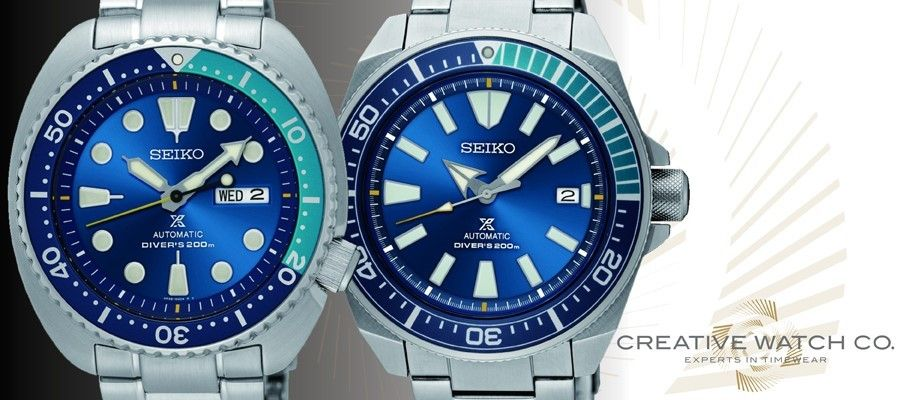 Seiko's New Additions to the Prospex Family: The Blue Lagoon Turtle and Samurai