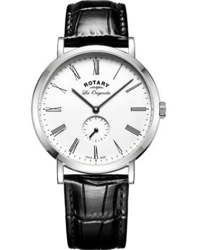 Mens Rotary Windsor Swiss White Dial on Strap GS90190/01 Watch