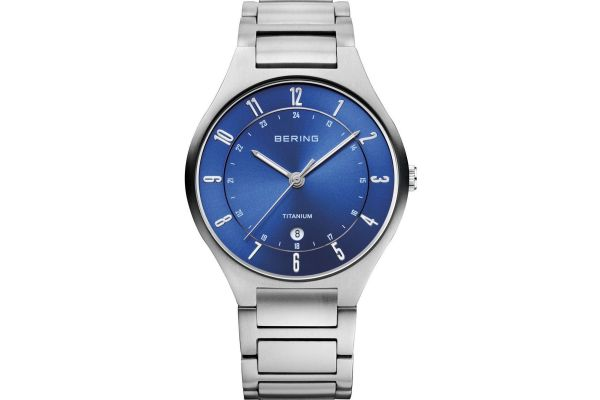 Mens Bering Titanium Watch 11739-707