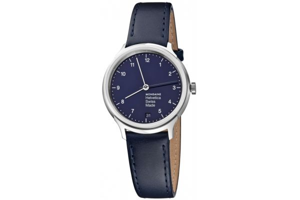 Mens Mondaine Helvetica No.1 Watch MH1.R1240.LD
