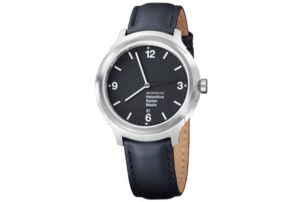 Mens Mondaine Helvetica No.1 Watch MH1.B1220.LB
