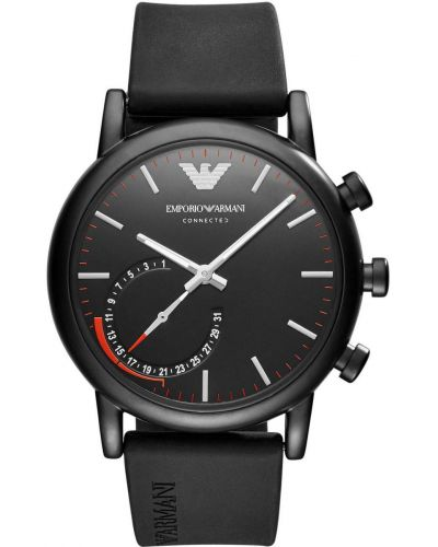 Mens Emporio Armani Connected Hybrid Black Smartwatch on Resin ART3010 Watch