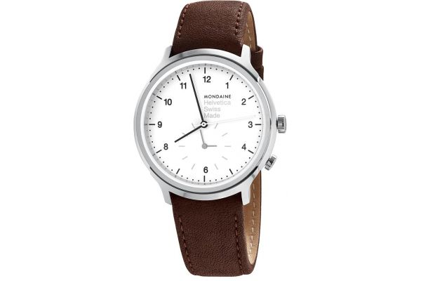 Mens Mondaine Helvetica No.1 Watch MH1.R2010.LG