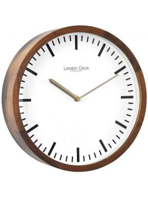 Solid wood modern circular wall clock | 01235