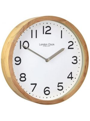 Wall Clock in Solid Wood with Arabic White Dial | 01234