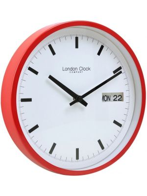 Wall clock with red case and white dial | 01117