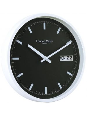 Wall clock with white case and black dial | 01118