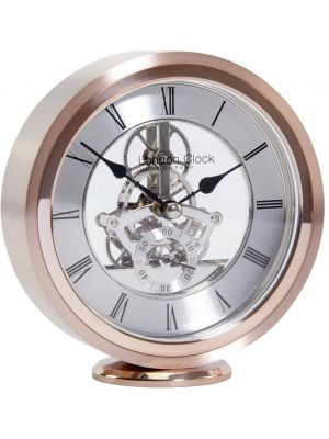 Quartz Round skeleton movement mantel in rose gold | 03182