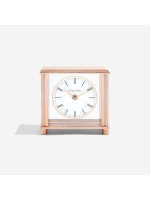 Square Rose Gold Small Mantel Clock | 3215