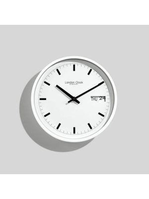 White day date wall clock | 1119