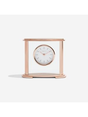 Oval Rose Gold Mantel Clock | 3217