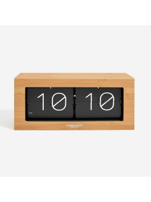 Wood Veneer Stor mantel clock with flip digits | 03140