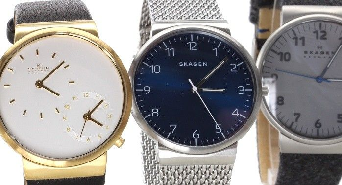 Minimalistic felt or milanese strap watches with a hint of military flare