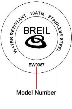 Breil watch case back - repairs servicing
