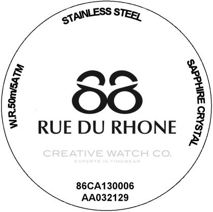 88 Rue du Rhone watch case back - repairs servicing
